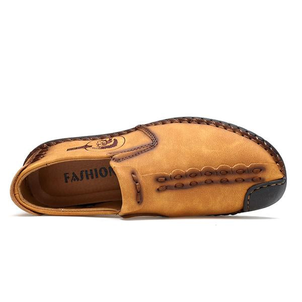 Men's Slip-on Microfiber Leather Flats Comfy Shoes