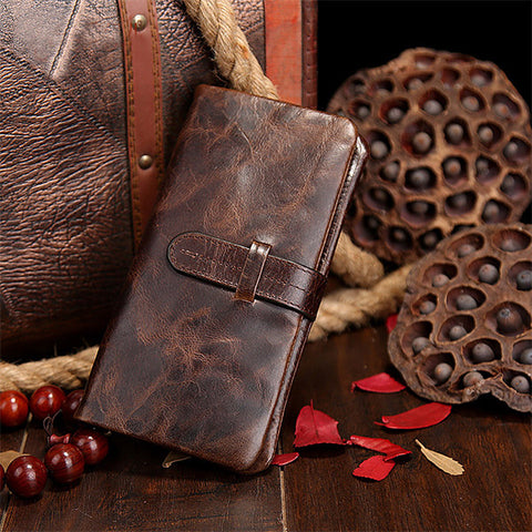 Fashion Large Capacity Vintage Genuine Leather Wallet