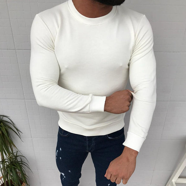 Men's Casual Long Sleeve Fashion Solid Shirt