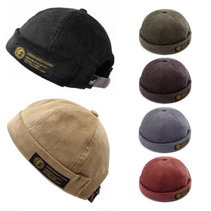 Adjustable Corduroy Velvet Brimless Hats Retro Vogue Crimping Bucket Cap