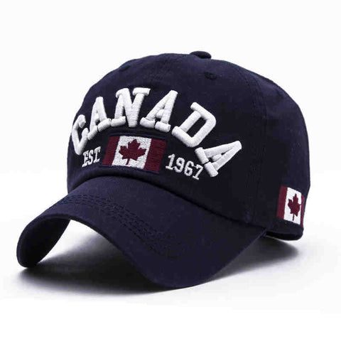 Unisex Canada Embroidery Sunshade Hats Baseball Caps