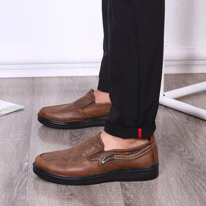 Mens Anti slip Flat Shoes Slip on Soft Comfy Shoes