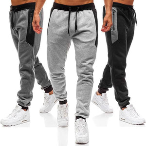 Men's Jogger Pants Zipper Pocket Sports Pants