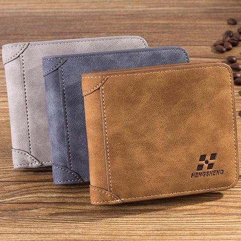 Men Multi Card Slots Wallet Card Holder Slim Wallet with 8 Card SLots 2 ID Windows