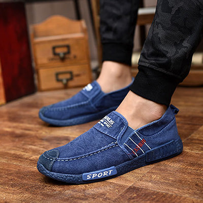 Men/'s Canvas Shoes Casual Plimsolls Casual Loafers Slip On Sport Running Sneaker