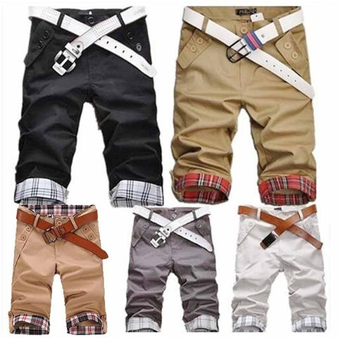 Mens Summer Sport Plaid Design Shorts Beach Short Pants