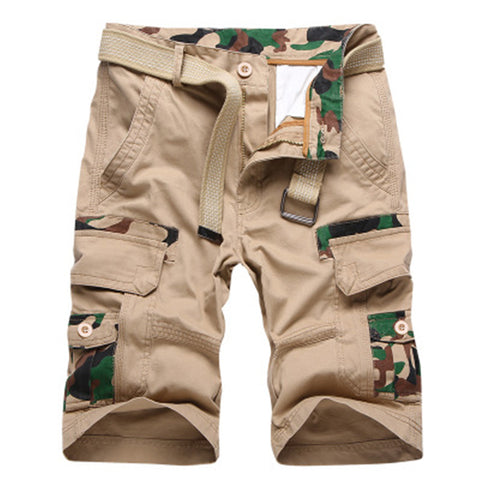 Mens Casual Outdoor Cargo Shorts Zipper Slacks Short Pants