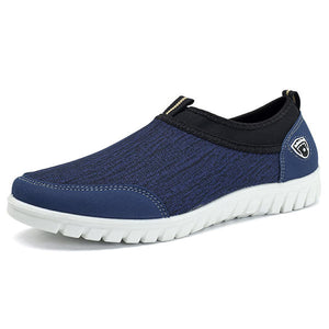 Large Size Mens Comfy Soft Sole Sports Breathable Slip On Shoes