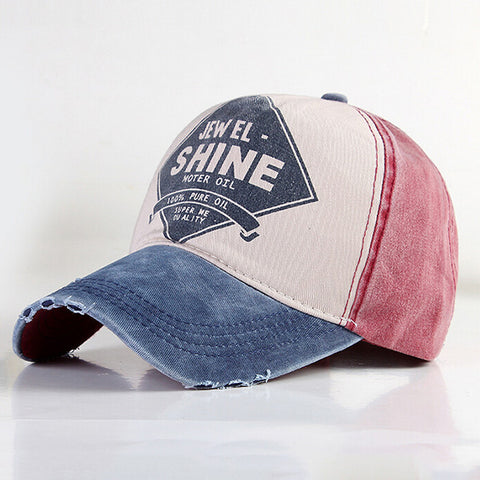 Multicolor SHINE Letter Sunshade Hat Baseball Cap
