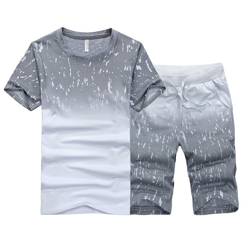 Mens Fashion Printed Sports Suit