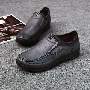 Men's Casual Comfy Soft Moc Toe Slip On Flats Shoes