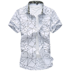 Mens Plus Size Short Sleeve Turndown Collar Shirts