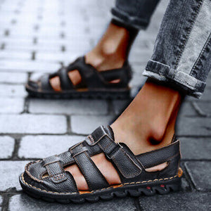 Summer Men Classic Roman Outdoor Beach Sandals Slipper