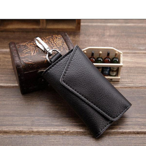 Men Cow Leather Key Wallet Genuine Leather Key Bag