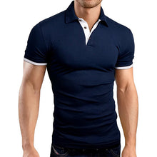 Load image into Gallery viewer, Mens Casual Stand Collar Polo Shirts Short Sleeve Golf Shirts