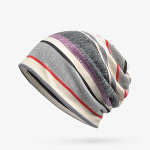 Mutifunction Unisex Outdoor Winter Stripes Scarf Casual Cap