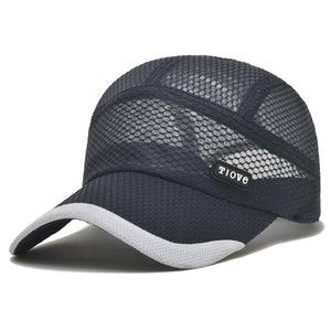 Summer Ultra-Thin Quick-Drying Mesh Baseball Cap Outdoor Sport Breathable Cap