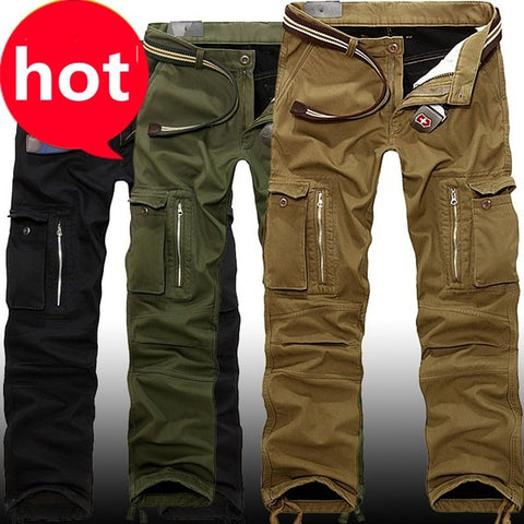 Mens Multi Pocket Military Jeans Training Camouflage Cargo Pants