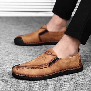Men's Slip-on Genuine Leather Flats Casual Shoes