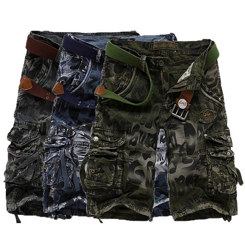 Mens Summer Military Cargo Shorts Camouflage Shorts Baggy Cargo Shorts