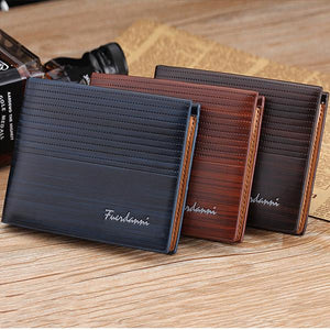 Mens Fashion Multi Cards Slots Short Wallet