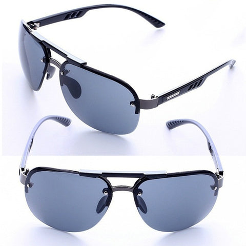 Men's UV 400 Protection Rimless Fashionable Personality Polarized Driving Sunglasses