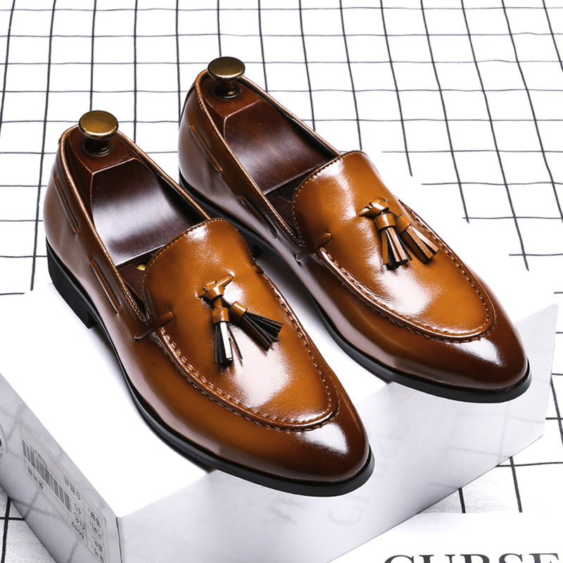 Men's Fashion Pointed Casual Tassel Leather Shoes