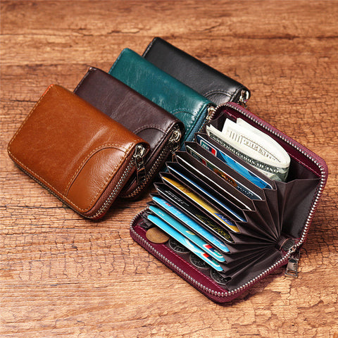 Men And Women 12 Card Slot Wallet Short Coin Purse