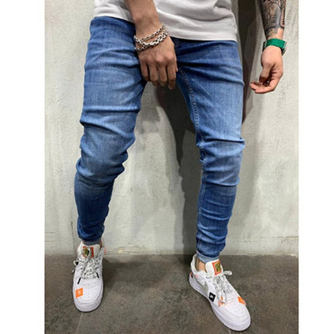 Men Casual Slim Fit Jeans Outdoor Fashion Pants