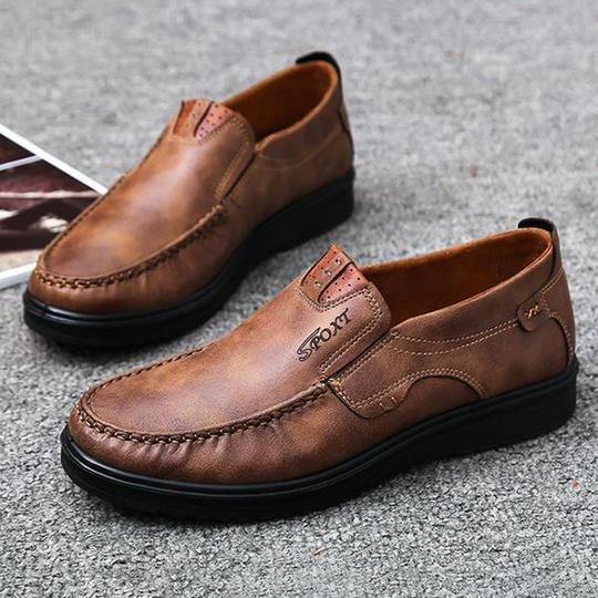 Men's Casual Soft Flat Formal Shoes Slip on Shoes