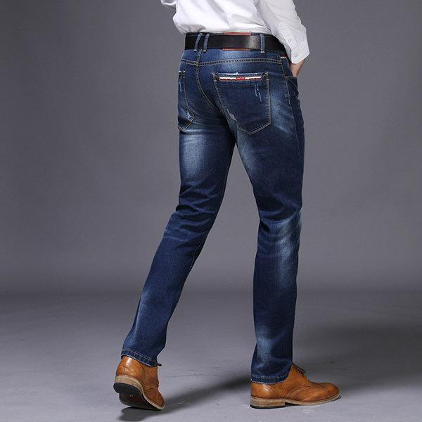 Casual Business Stylish Straight Legs Slim Jeans