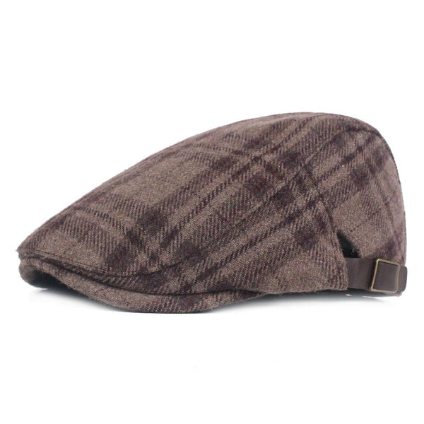 Men Adjustable Cotton Warm Breathable Comfortable Vintage Beret Caps