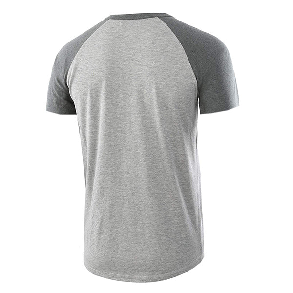Mens Short Sleeve Button Color Block T-Shirts