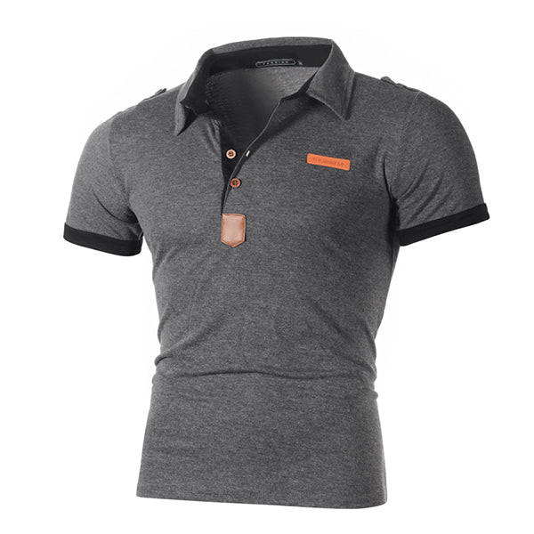 Mens Casual Fashion Short Sleeve T-Shirts Polo Shirts