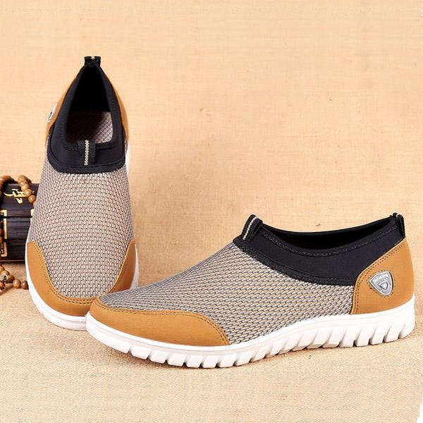mens Casual Mesh Sport Shoes Slip on Soft Comfy Shoes