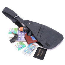 Load image into Gallery viewer, Anti-theft Water Resistant Outdoor Travel Sling Bag Chest Bag Crossbody Bag