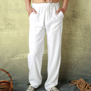 Summer Mens Full Length  Loose Light Casual Home Comfortable Pants