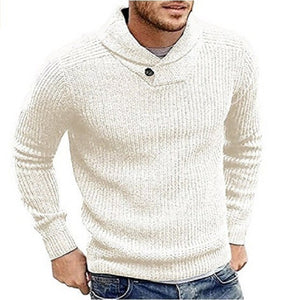 Casual Winter Plain Knit Sweater