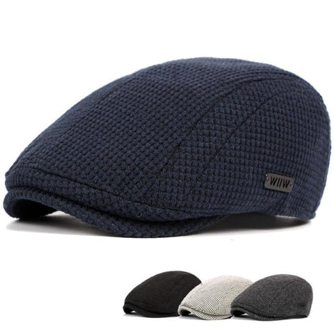 Mens Cotton Gatsby Beret Cap Golf  Flat Cabbie Hat