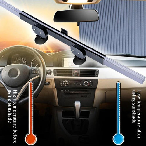 Auto Sunshade Windshield Retractable Foldable Car Window Cover Curtain