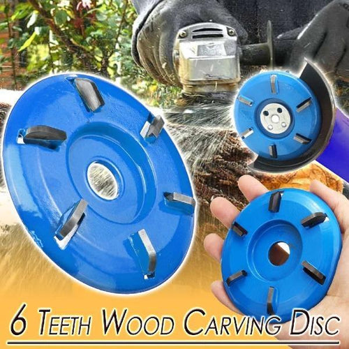 Wear Resistance 6 Teeth Wood Carving Disc