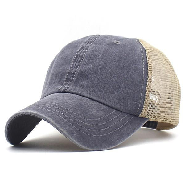 Stitching Color Breathable Adjustable Caps