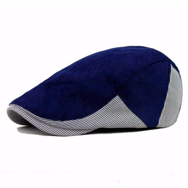 Mens Newsboy Adjustable Comfortable Sun Hat Stripe Cotton Beret Cap