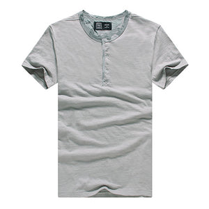 Mens Pure Color Crew Neck Casual T-Shirts