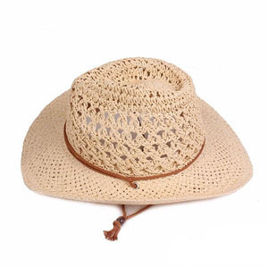 Foldable Sunscreen Curly Round Straw Bucket Cap Fisherman Hat Vacation Beach Hat