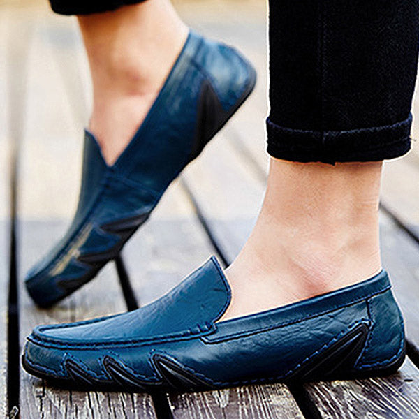 Mens Slip-on Driving Shoes Casual Flats