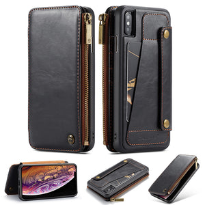 2 In 1 Detachable Premium Leather Wallet Case For iPhone