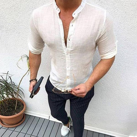 Long Sleeve Slim Fit Buttoned Shirts