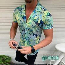 Load image into Gallery viewer, Short-Sleeved  Silk Dense Flower Printed Shirt