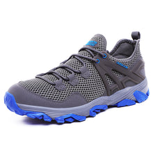 Load image into Gallery viewer, Mens Mesh Non Slip Lace Up Casual Sneakers Outdoor Shoes